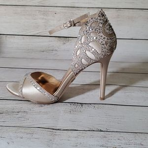 Badgley Mischka Roxy Ankle Strap Evening Shoe